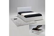 LE QUAI DES AFFAIRES Lit coffre barcelona 140x190 + 1 sommier / blanc