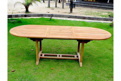 Rocambolesk Magnifique Salon de jardin Teck massif 10/12 pers ...