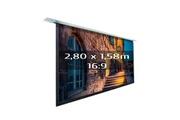 KIMEX Ecran projection élec. encastrable 2,80 x 1,58m- format 16:9