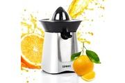 Duronic Je6 /sr presse-agrumes électrique compact en inox de 100w - bec verseur - 2 cônes - idéal pour jus d'orange / de citrons / de fruits