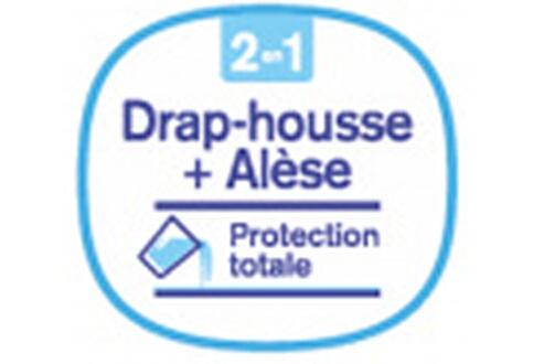 P'TIT LIT Drap magique 2 en 1 : drap housse + alèse ptit lit 70 x 140 cm - rose
