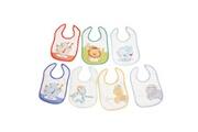 King Bear Lot de 7 bavoirs pour bébé animaux fantaisie boy - motifs jours de la semaine