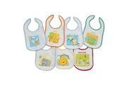 King Bear Lot de 7 bavoirs pour bébé doublure peva multicolore - motifs jours de la semaine