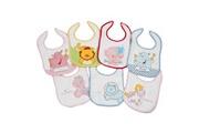 King Bear Lot de 7 bavoirs pour bébé animaux fantaisie girl - motifs jours de la semaine