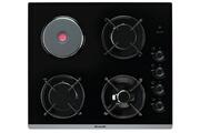 Brandt Table de cuisson mixte 51cm 4 feux noir - bpg6413bm