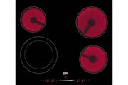 Beko Table de cuisson vitrocéramique 4 feux 6700w noir - hic64502t