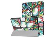 Magunivers Etui en pu stand en trois volets de couleur à motifs peinture arbre pour votre acer iconia one 10 b3-a40