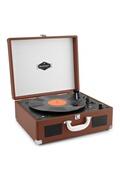 Auna Peggy sue lecteur vinyles & cd portable style rétro usb sd valise - marron