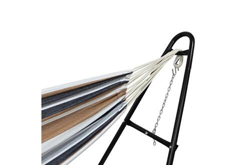 Storaddict Storaddict - lit suspendu, hamac, marron, avec support type-h, brésilien, coton, capacité: pour 2 personnes