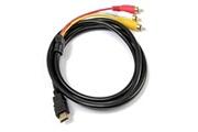 Cabling Hdmi vers rca câble 1.5 m hdmi mâle vers 3rca vidéo audio av component câble adaptateur convertisseur pour hdtv dvd de pc et la plupart des projecteurs lcd (ne pas utiliser pour ps4) (noir)