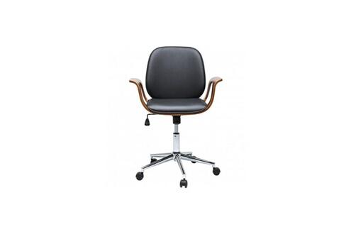 Kare design chaise de bureau à roulettes bois et noir patron