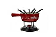 Table&cook Service à fondue fonte 21cm 6 fourchettes rouge - hhf-0075 - table&cook