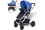 GENERIQUE Transport de bébés reference asmara poussette 2-en-1 aluminium bleu et noir