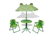 Vidaxl Jeu de bistro avec parasol pour enfants 3 pcs vert