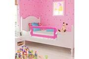 Vidaxl Barrière de lit pour enfants 102 x 42 cm rose