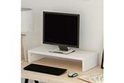 Vidaxl Support de moniteur aggloméré 60 x 23,5 x 12 cm blanc