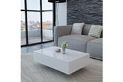 Vidaxl Table basse haute brillance blanche