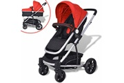 GENERIQUE Transport de bébés ligne quito poussette/landau bébé 2-en-1 aluminium rouge et noir