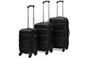 Vidaxl Vidaxl ensemble valise rigide de trois pièces noir