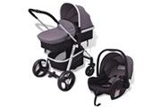 GENERIQUE Transport de bébés reference tbilissi poussette 3-en-1 aluminium gris et noir