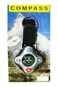Pro Porte-clés boussole de randonné compas antichoc grande taille facile a utiliser rapide a lire couleur noir