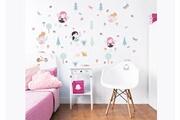 Walltastic 63 stickers enfants fees de la foret walltastic