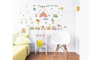 Walltastic 56 stickers enfants cirque walltastic