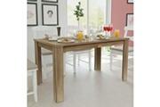 Vidaxl Table de salle à manger 140 x 80 x 75 cm chêne