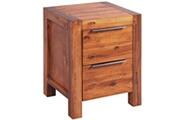 Vidaxl Armoire de chevet bois d'acacia massif marron 45 x 42 x 58 cm