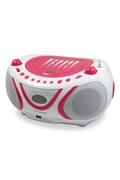 Metronic Radio cd-mp3 usb fm pop pink - rose et blanc