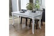 Vidaxl Table de salle à manger 116 x 66 x 76 cm blanc haute brillance