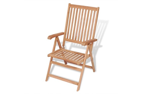 Vidaxl Chaise inclinable de jardin bois de teck solide