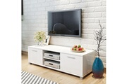 Vidaxl Meuble tv à haute brillance blanc 120 x 40,3 x 34,7 cm