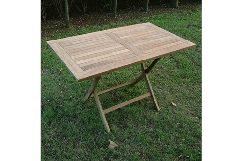 Teck\'attitude Table de jardin en teck pliable 120 x 70 cm - kensaï