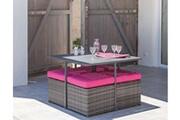 Proloisirs Salon de jardin en aluminium et résine tressée cubio