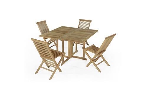Teck\'attitude Salon de jardin en teck ecograde papeete, table ...