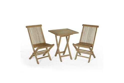 Teck\'attitude Salon de jardin en teck ecograde sawu, table pliante ...