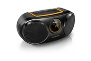 Philips Enceinte bluetooth sans fil philips at10/00 2 usb 3w led mp3 noir orange