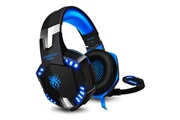Hobby Tech Casque stéreo filaire avec micro g2000 pour gamer pc, xbox one, ps4 - noir bleu