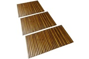 GENERIQUE Accessoires de salle de bain ligne monrovia tapis de bain en acacia 3 pcs