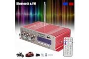 Alpexe Mini hi-fi amplificateur stéréo super bass pour voiture/iphone/ordinateur/cd/md/mp3/mp4/ipod/fm rouge