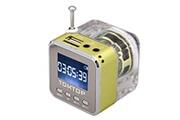 Alpexe Mini enceinte lumineuse portative verte mp3/4 micro sd/tf/usb/radio fm