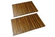 GENERIQUE Accessoires de salle de bain gamme beyrouth tapis de bain en acacia 2 pcs