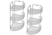 GENERIQUE Accessoires de salle de bain ensemble monaco étagères d'angle de douche à trois niveaux 2 pièces en métal