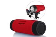 Alpexe Enceintes bluetooth haut-parleurs sans fil portable rechargeable waterproof avec 4000mah alimentation externe led - gris - rouge