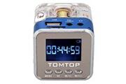 Alpexe Mini enceinte lumineuse portative bleue mp3/4 micro sd/tf/usb/radio fm