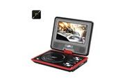 Auto High Tech Lecteur dvd portable 7 pouces large écran couleur tft, ebook, radio fm, contrôleur de jeu, antenne tv (rouge)