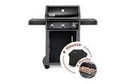 Weber Pack barbecue à gaz weber spirit original e-310 black + plancha + housse