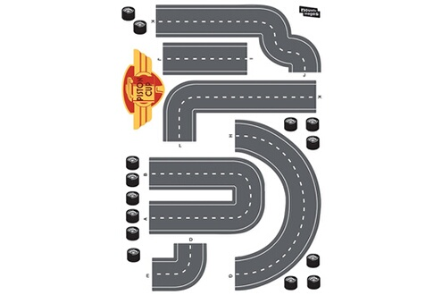 Nouvelles Images Sticker mural cars circuit voiture