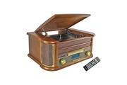 Dealstore Chaîne hifi vinyle style rétro bluetooth - lecteur cd / k7 audio / fm / usb